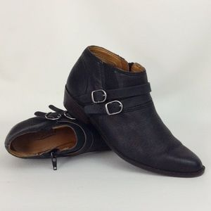 Lucky Brand Black Ankle Boots Size 6.5